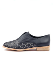 ALLRIGHTS Flats in Navy/ Pewter Leather