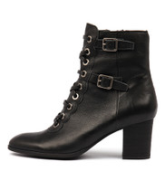 DAYSNAKE Ankle Boots in Black Leather