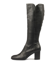 DELIVER Knee High Boots in Black Leather