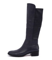 TETLEY Knee High Boots in Navy Leather