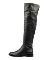 YANI Knee High Boots in Black Leather
