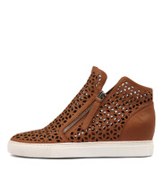 GAVEN Sneakers in Dark Tan Leather