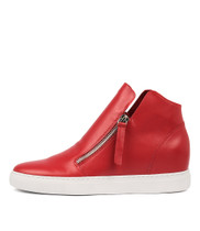 GLAD Sneakers in Red Leather