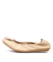BRIPES Ballet Flats in Nude Leather