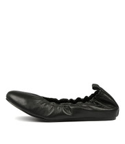 LULLO Ballet Flats in Black Leather