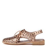 ARDELLA Flats in Rose Gold Leather