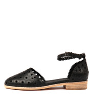 ANISSA Flats in Black Leather