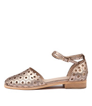ANISSA Flats in Champagne Leather