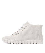 HAYWARD Lace-up Sneakers in White Leather