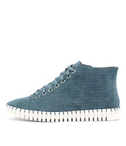 HAYWARD Lace-up Sneakers in Denim Suede