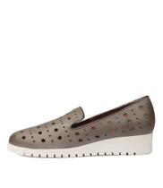 NICHOL Flatforms in Blue Grey/ Pewter Leather