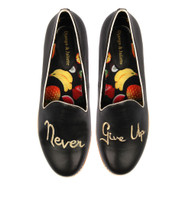 ALFREED Flats in Black/ Gold Leather