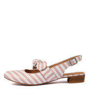 ETYE Flats in Pink/ White Leather