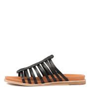 HILLARD Sandals in Black Leather