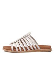 HILLARD Sandals in White Leather