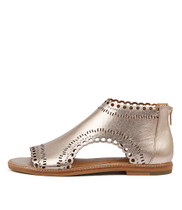 NATALYAS Sandals in Rose Gold Smoke Leather
