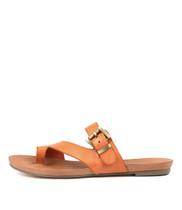 JAJUAN Sandals in Orange Leather