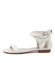 PLEASE Sandals in White Leather