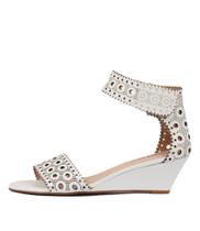 MCKENNA Wedge Sandals in White Leather