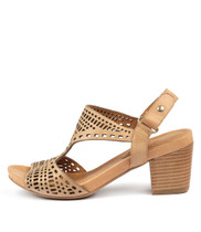 ZOLLIE Heeled Sandals in Tan Leather