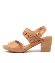 ZELLA Heeled Sandals in Cantaloupe Leather