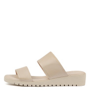 MAYRA Flatform Sandals in Nude Leather