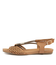 JOBINASS Sandals in Tan/ Bronze Leather