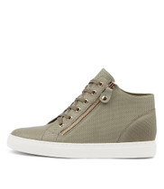 GIAZZA Sneakers in Khaki Leather