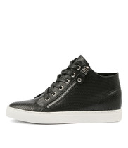 GIAZZA Sneakers in Black Leather