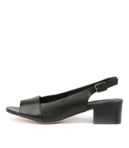 RANDOT Heeled Sandals in Black Leather