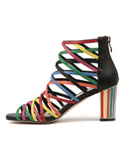NATHANS Heeled Sandals in New Bright Multi Leather