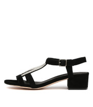 ROENATA Heeled Sandals in Black Suede
