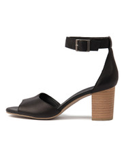 SHERWIN Heeled Sandals in Black Leather