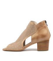 MINOA Heeled Sandals in Flesh Leather