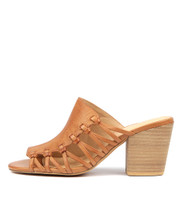WILBUR Heeled Sandals in Dark Tan Leather