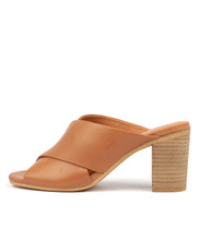 VEVA Heeled Sandals in Tan Leather