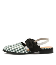 LENINA Flats in Black Gingham/ Multi Leather
