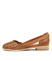 ADRIENE Flats in Tan Leather