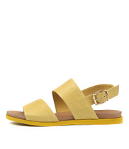 CARINA Sandals in Yellow Leather