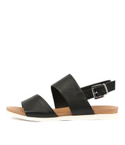 CARINA Sandals in Black Leather