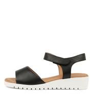 MULTON Sandals in Black Leather