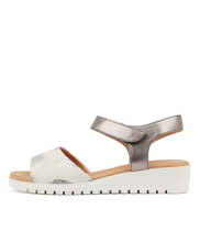 MULTON Sandals in Grey/ Pewter Leather