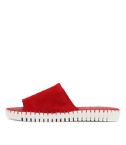 HARDING Sandals in Red Suede