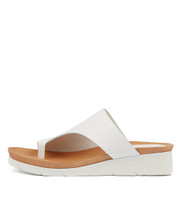 LACOUNT Sandals in White Leather