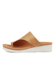 LACOUNT Sandals in Dark Tan Leather