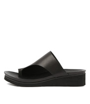 LACOUNT Sandals in Black Leather