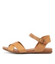 BROSS Sandals in Tan/ Dark Tan Leather