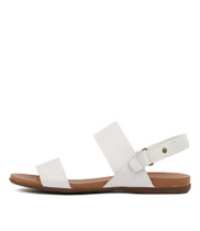 BRIDE Sandals in White Leather