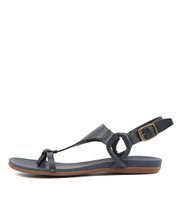 BARISHA Sandals in Navy Leather