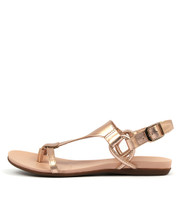 BARISHA Sandals in Rose Gold Leather